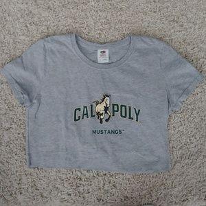 Cal poly crop shirt